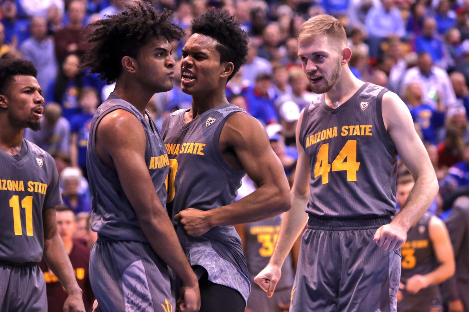 @SunDevilHoops Improves to 9-0 with Win at No. 2 Kansas